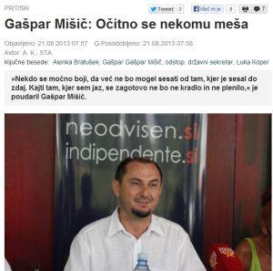Gašpar Mišič dokazi