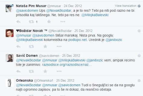 Milojka Balevski Pirc Musar tvit
