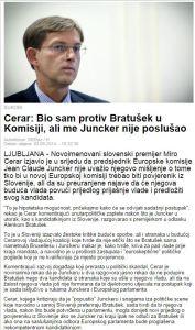 Cerar Bratušek Juncker poslušanje