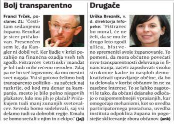Trček Fištravec komentar volitve