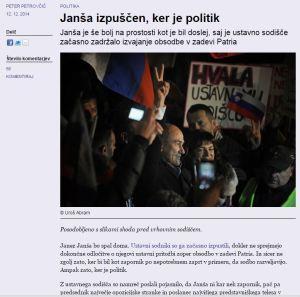 Janša izpuščen ker je politik Mladina