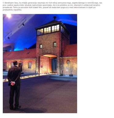 Pahor uradna stran Auschwitz