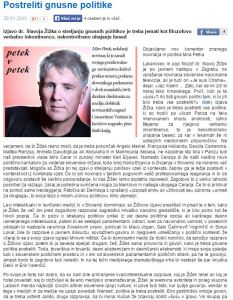 Miro Petek kolumna Žižek politike postreliti