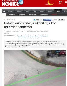 Slovenske novice Prevc rekord