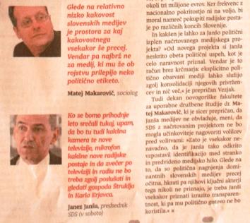Makarovič Janša medijska hiša komentar Dnevnik