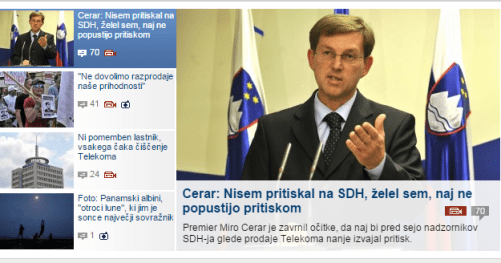 Pahor pritiski Telekom MMC