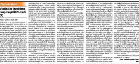 Fronta Simonič odgovor Fištravcu