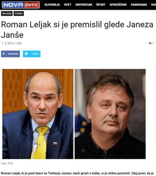 Leljak Janša premislil Nova24