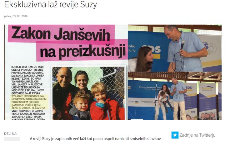Janša Suzy laž