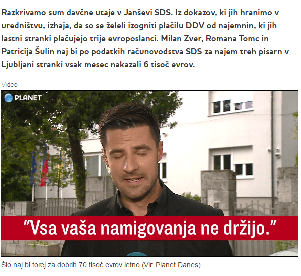 Planet TV SDS davek namigovanja