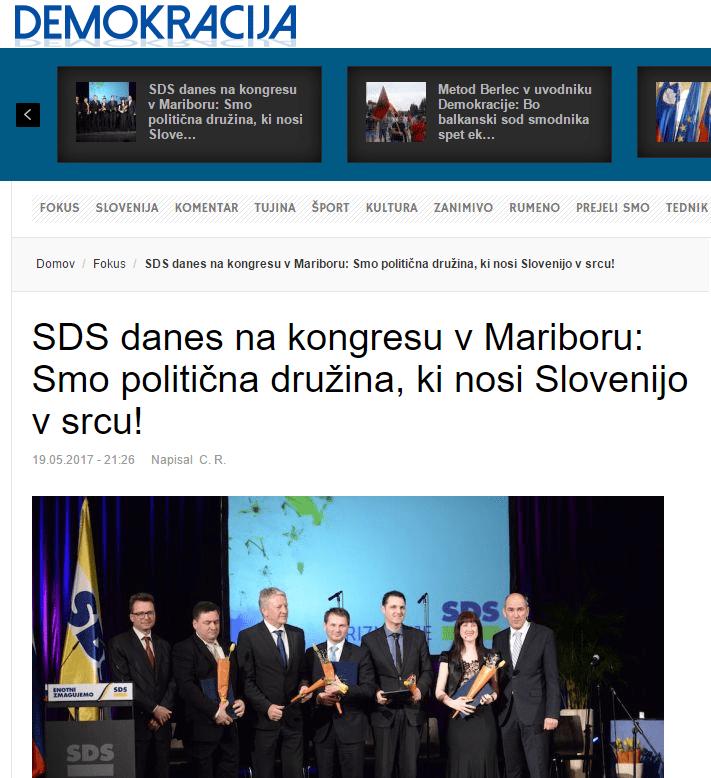 SDS kongres Demokracija