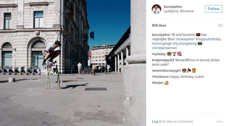 Pahor instagram Luka