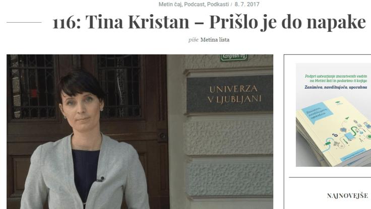 Tina Kristan Metina