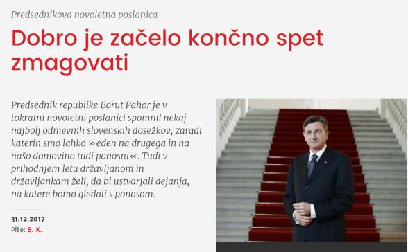 Pahor poslanica Dobro Onaplus