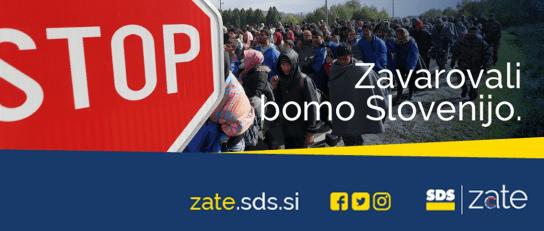 SDS zavarovali slovenijo slogan