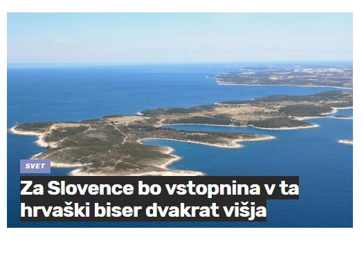 Rt Kamenjak vstopnina višja za Slovence