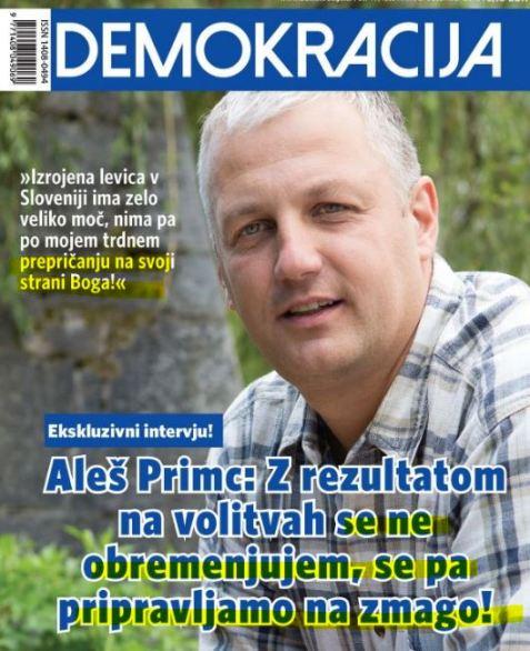 Primc zmaga Bog Demokracija