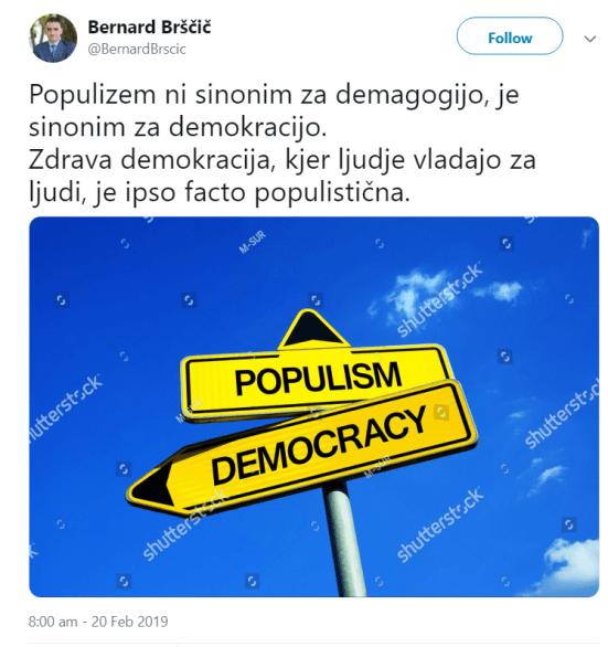 Brščič populizem demokracija