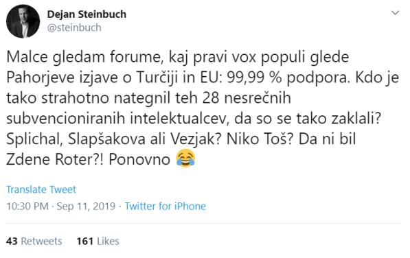 Steinbuch pahor Pismo intelektualci