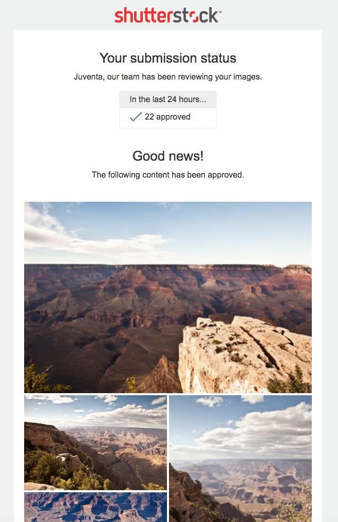 Shutterstock Approval Status #vezzaniphotography