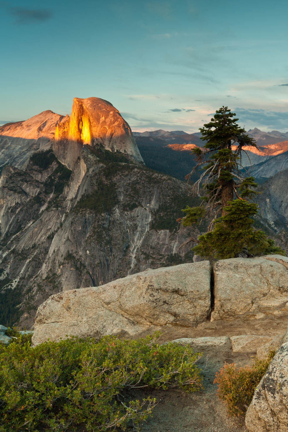 Sunset over Half Dome, Glacier Point, Yosemite National Park, California