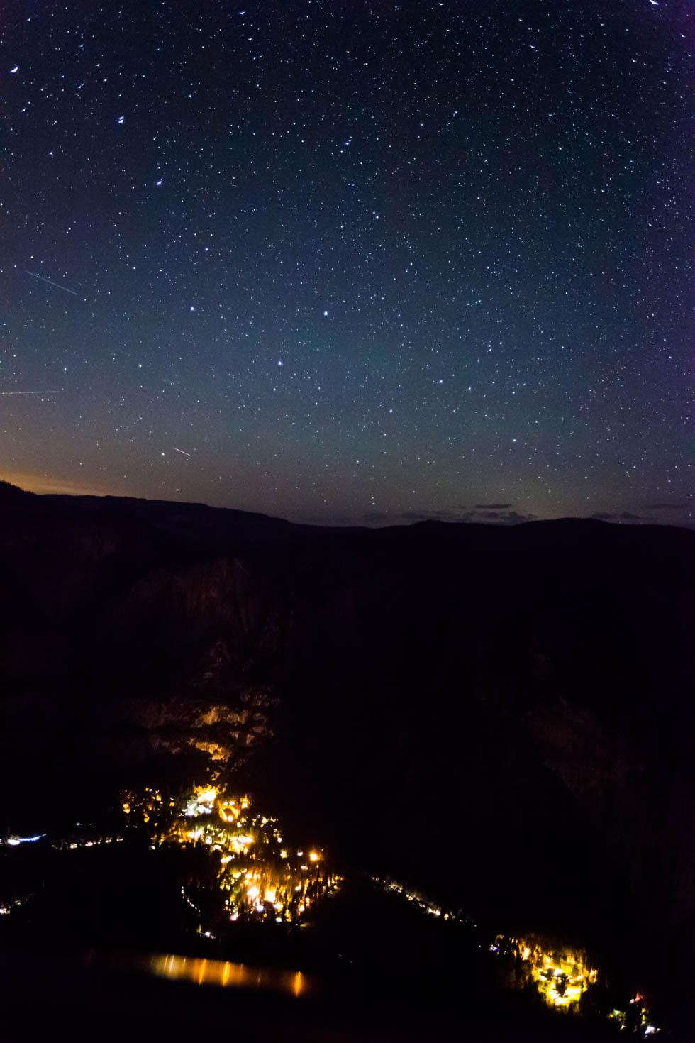 Yosemite Village, Night Sky, Glacier Point, Yosemite National Park