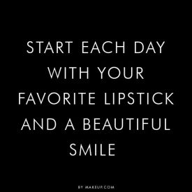 Start each day with your favourite lipstick