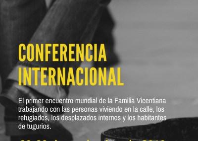Conferencia Internacional de la Alianza Famvin con las personas sin hogar