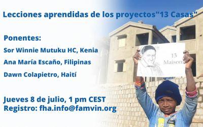 """Evento online: Lecciones aprendidas de los proyectos de las """"13 Casas"""""""