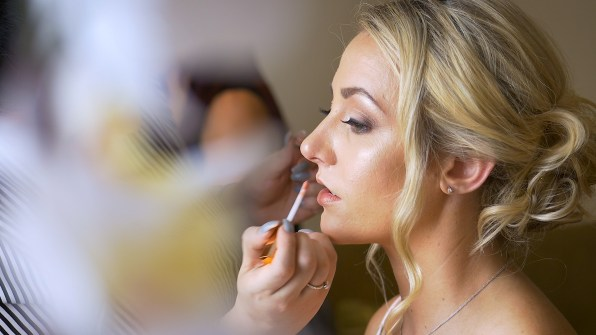 bridal party preparations
