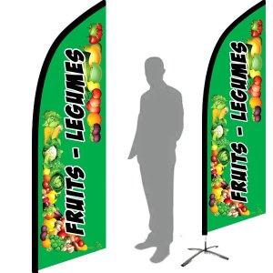 drapeau fruit légume oriflamme