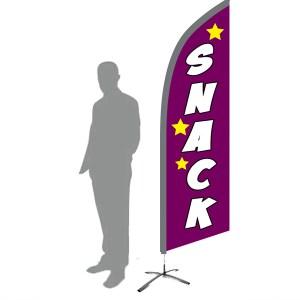 drapeau oriflamme snack violet