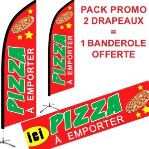 promotion drapeaux banderole pizza à emporter