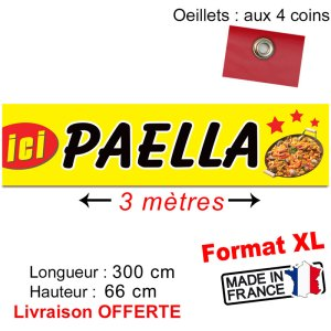 banderole imprimée paella