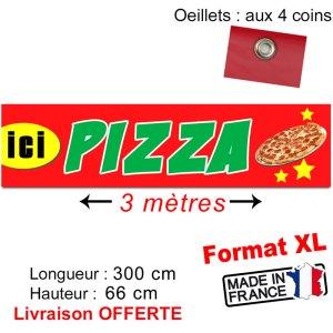 banderole imprimée pizza