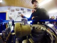 Gerätewart Micha am Vereinskompressor