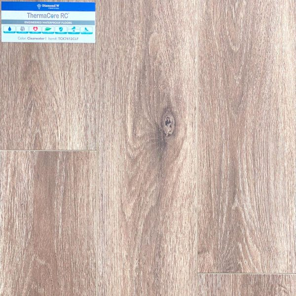 Diamond W, European Oak 6 mm, SPC Flooring in Clearwater Color