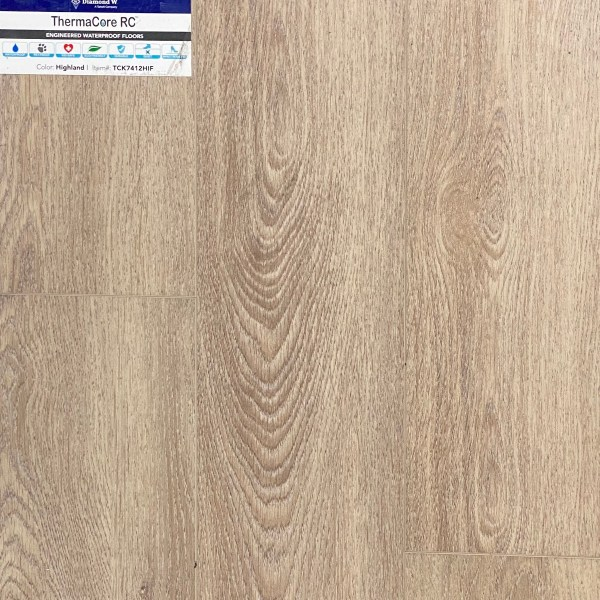 Diamond W., Thermacore RC, SPC Vinyl Flooring, HF design in Highland Color   Valley Flooring Outlet
