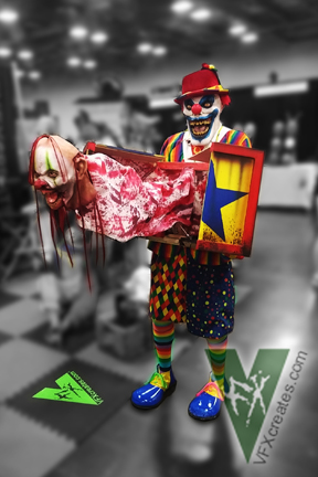 Halloween Jack In The Box Prop.Jack In The Box Lunging Clown Head Grunged Vfx Creates