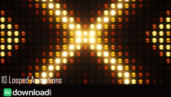 LED Wall Lights VJ Loops Pack - Free After Effects Template