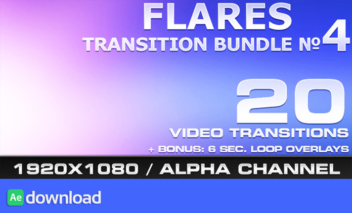FLARES TRANSITION BUNDLE - 4 - MOTION GRAPHIC (VIDEOHIVE