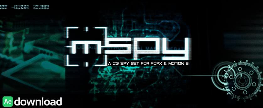 MSPY - A CG SPY SET FOR FCPX AND MOTION 5 (MOTIONVFX)