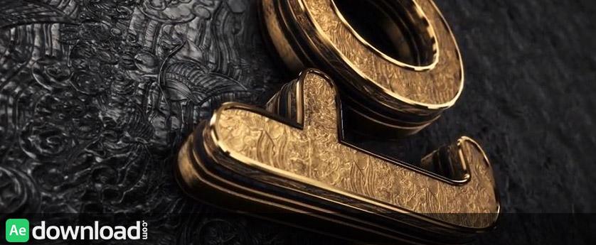 VIDEOHIVE BLACK GOLD LOGO V3