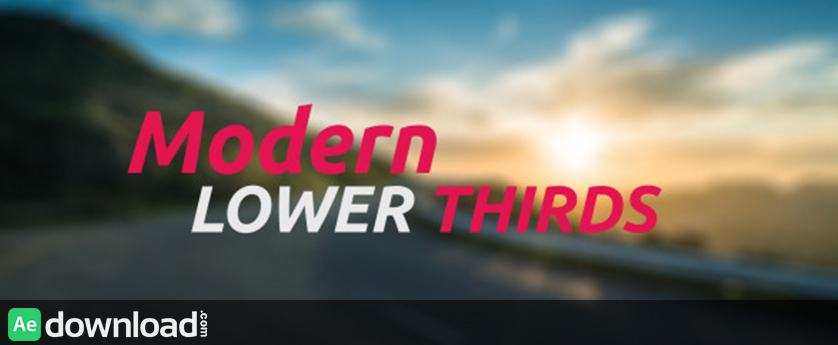 VIDEOHIVE MODERN LOWER THIRDS FREE DOWNLOAD vidohive - Free