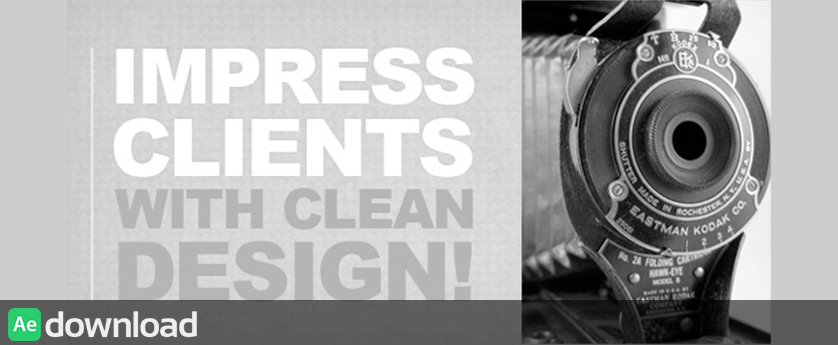 ZED CLEAN KINETIC - APPLE MOTION TEMPLATE (VIDEOHIVE)