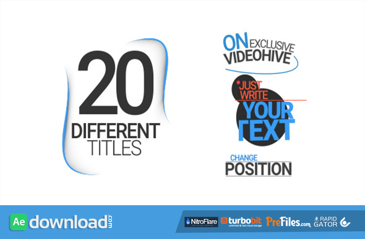 20 Different Titles Free Download After Effects Templates