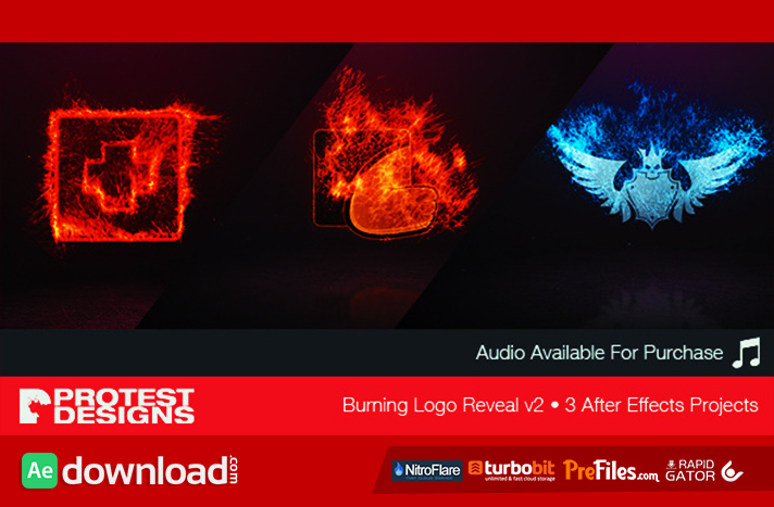 Burning Logo Reveal v2 Free Download After Effects Templates
