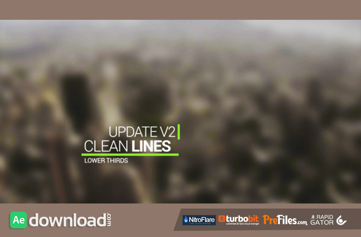 Clean Lines Lower Third Free Download After Effects Templates