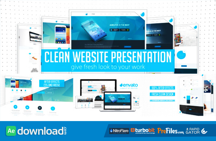 Clean Website Presentation 2 in 1 Free Download After Effects Templates