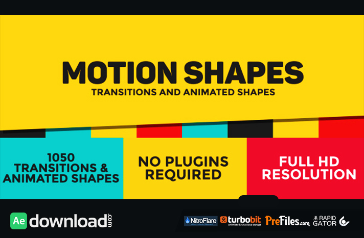 Dynamic Shapes - Animated Shape Layer Elements Free Download After Effects Templates